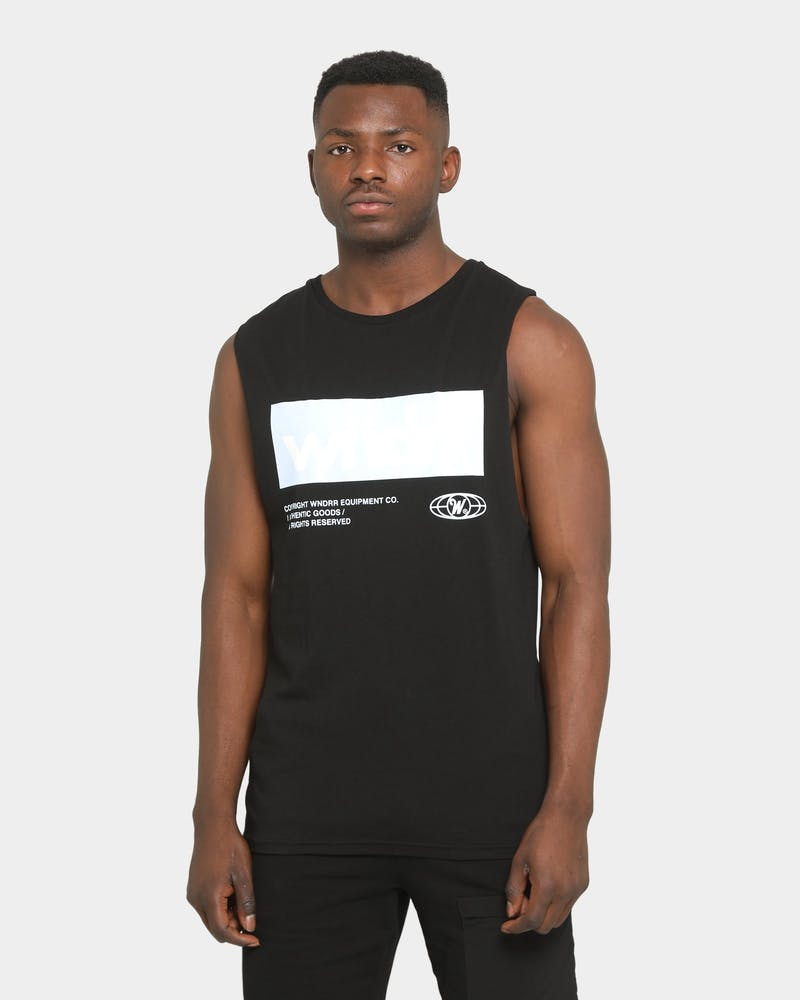 MANIFEST MUSCLE TOP - BLACK