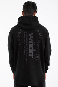 STAGE CURVED HOODED SWEAT - BLACK