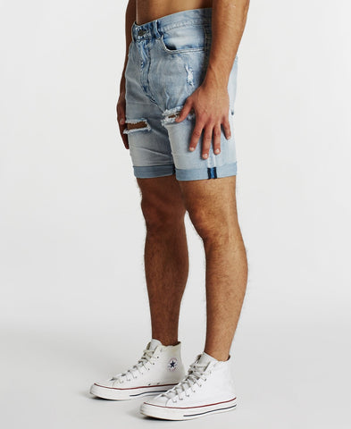 KS3 DENIM SHORT - SUNBURNT BLUE
