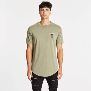 OMBRE DUAL CURVED TEE - PIGMENT KHAKI
