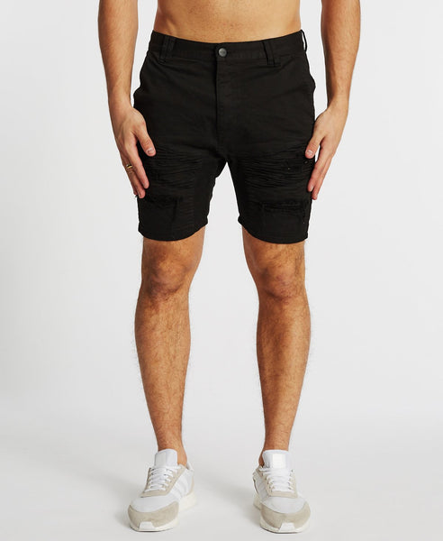 HELLCAT DENIM SHORT - JET BLACK