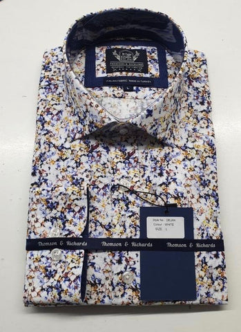 DEJAN DRESS SHIRT - WHITE
