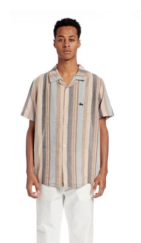 LOU STRIPE SS SHIRT - WHITE SAND