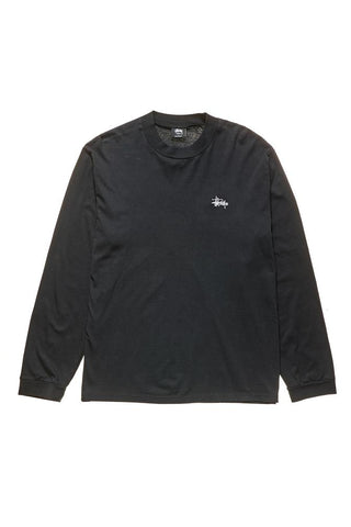 MOCK NECK LS TEE - BLACK