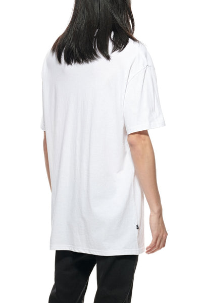 LEFT CHEST CITY STACK SS TEE - SOLID WHITE