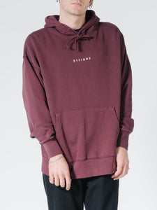 MINIMAL THRILLS SLOUCH PULL ON HOOD - BLOOD RED
