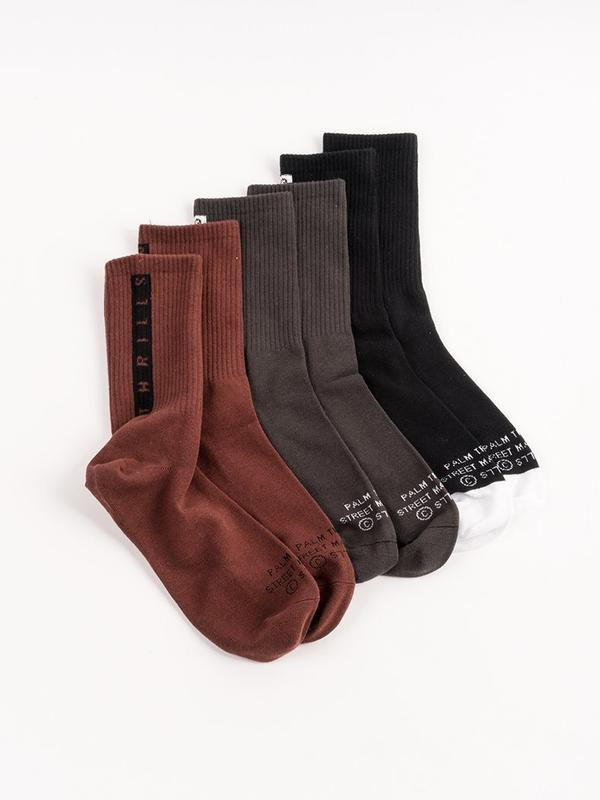 MINIMAL THRILLS STRIPE SOCK - BLACK/PORT/MOSS