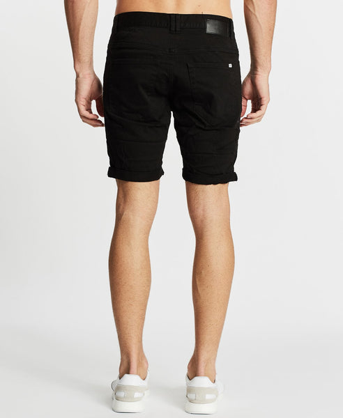 TURNER DENIM SHORT - JET BLACK