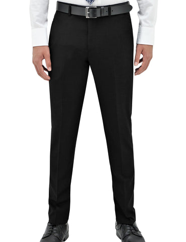 EDWARD 100% WOOL PANT - BLACK