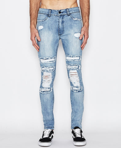 BLADE RUNNER JEAN - DESTROYED BLUE