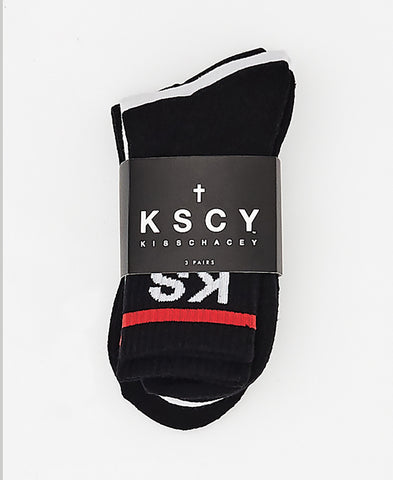 KSCY 03 MID SOCK 3PK - MULTI
