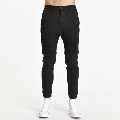 ZEPPELIN PANT - DESTROYED SOLID BLACK
