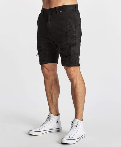 ZEPPELIN SHORT - DESTROYED SOLID BLACK