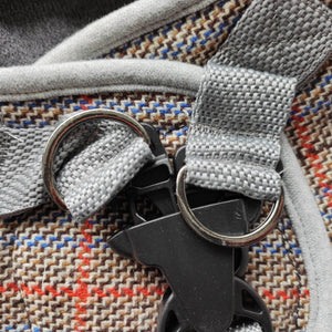 boston | grey tartan harness
