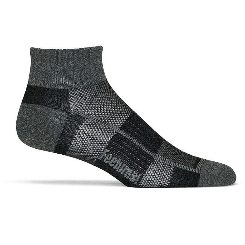 Feetures! Trail Running Pure Comfort Ultra Light Quarter charcoal