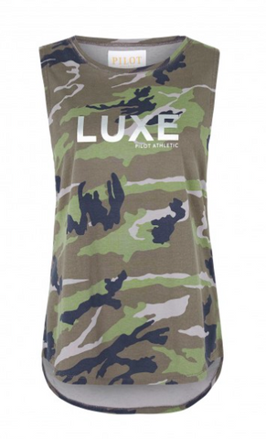 PILOT Athletic HARKNESS CAMO LUXE MUSCLE TEE