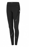 Black Full Length Tights Activewear Fashion Aviatrix Floral Pilot Athletic