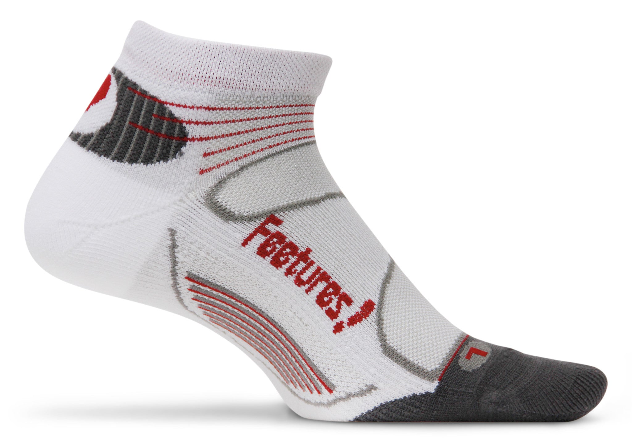 Feetures! Elite Light Cushion Low Cut white/Red