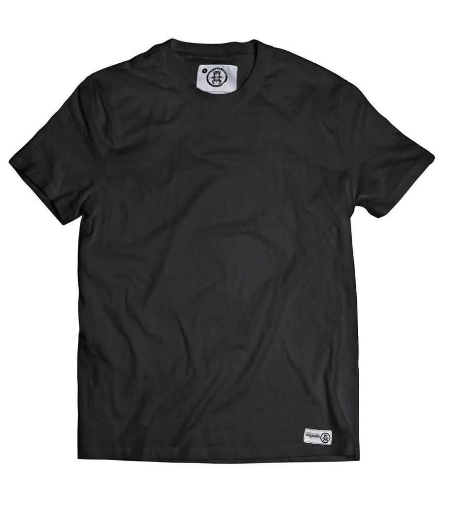 Mens Plain Black Tee - Feeds 5