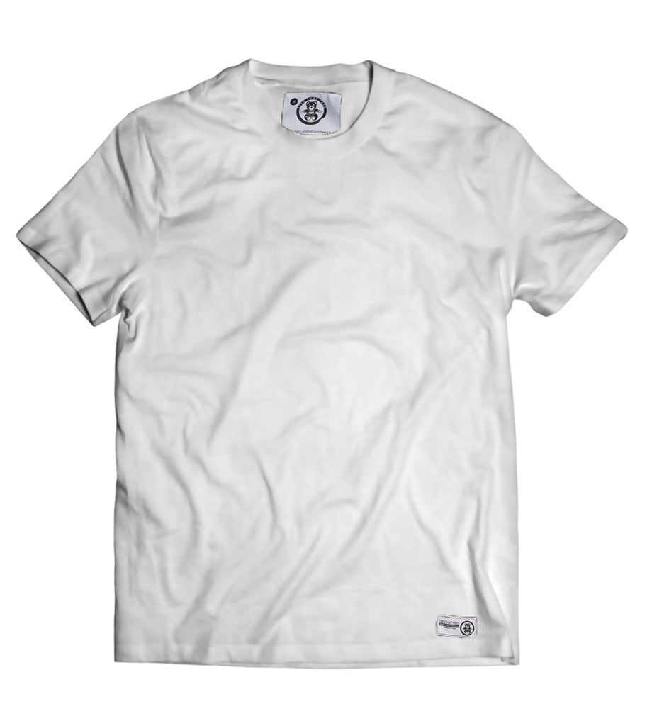 Mens Plain White Tee - Feeds 5