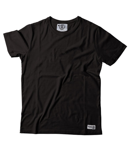 Women's Plain Black Tee - Feeds 5