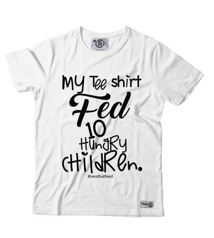 Women's Fed10 tee White - Feeds 10
