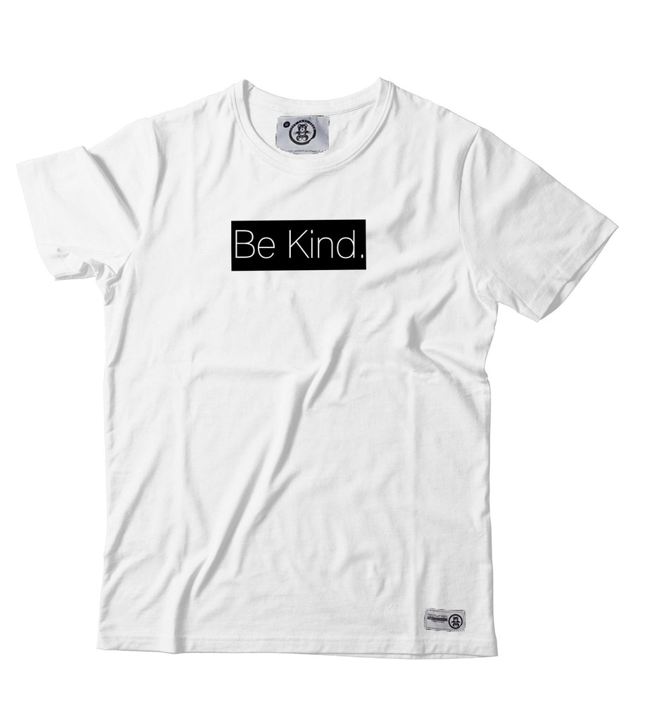 Womens BE KIND White tee - Feeds 5