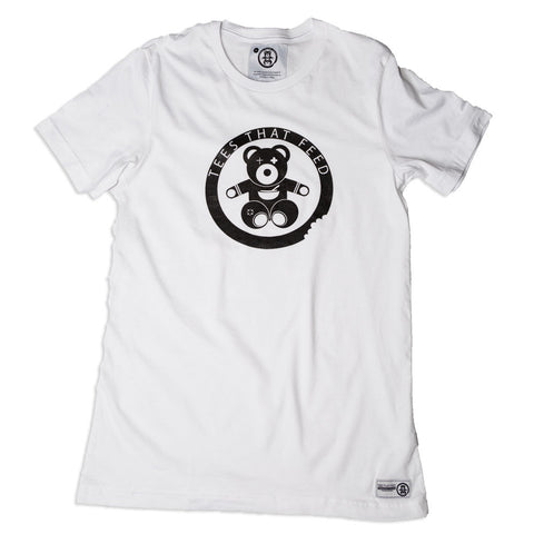 Mens Classic Tee White Big Bear - Feeds 5