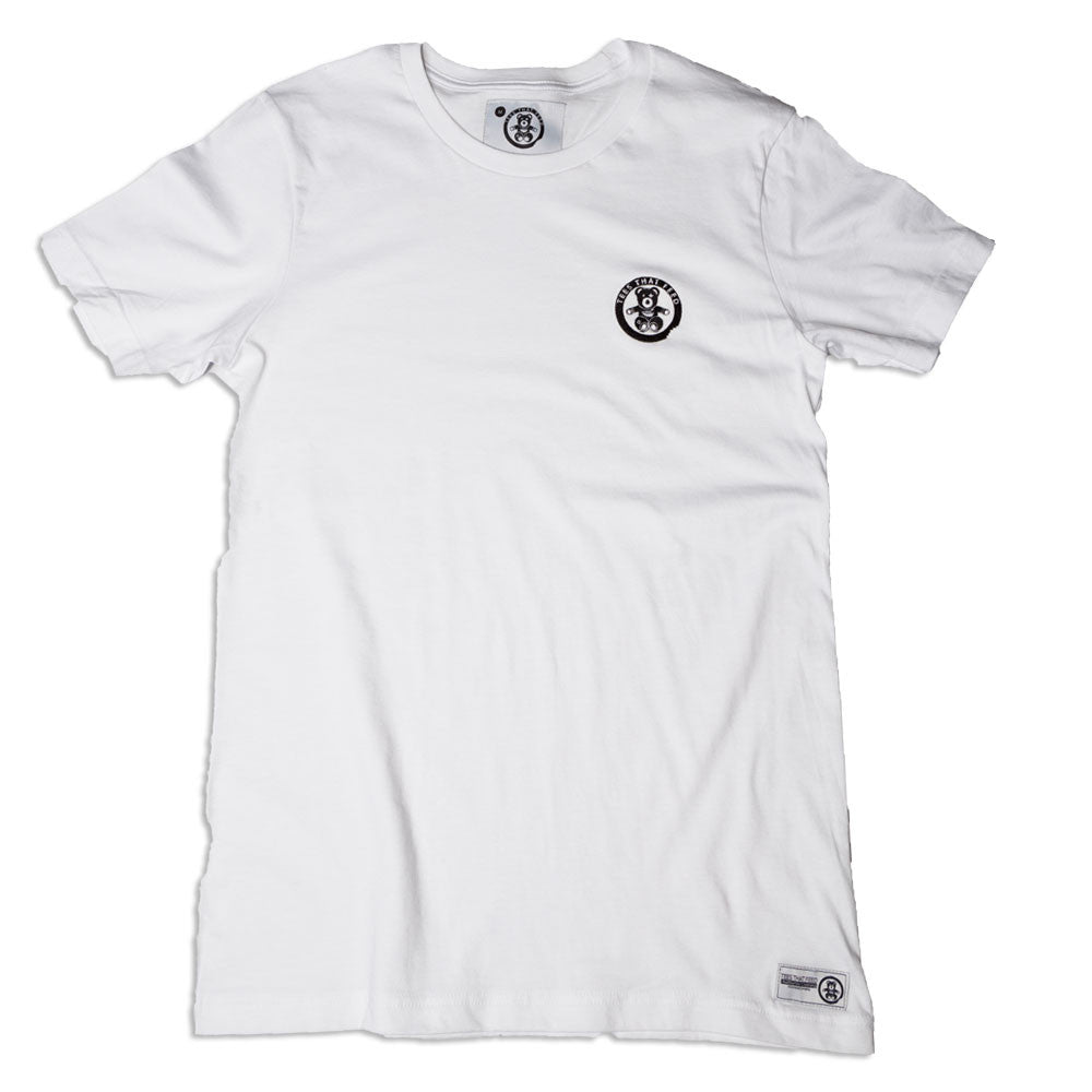 Mens Classic Tee White Small Bear - Feeds 5