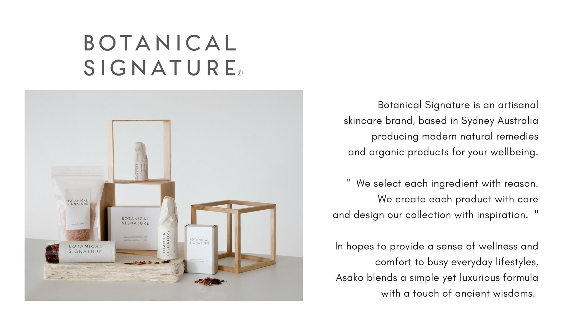 Botanical Signature Atelier Skincare and Wellbeing