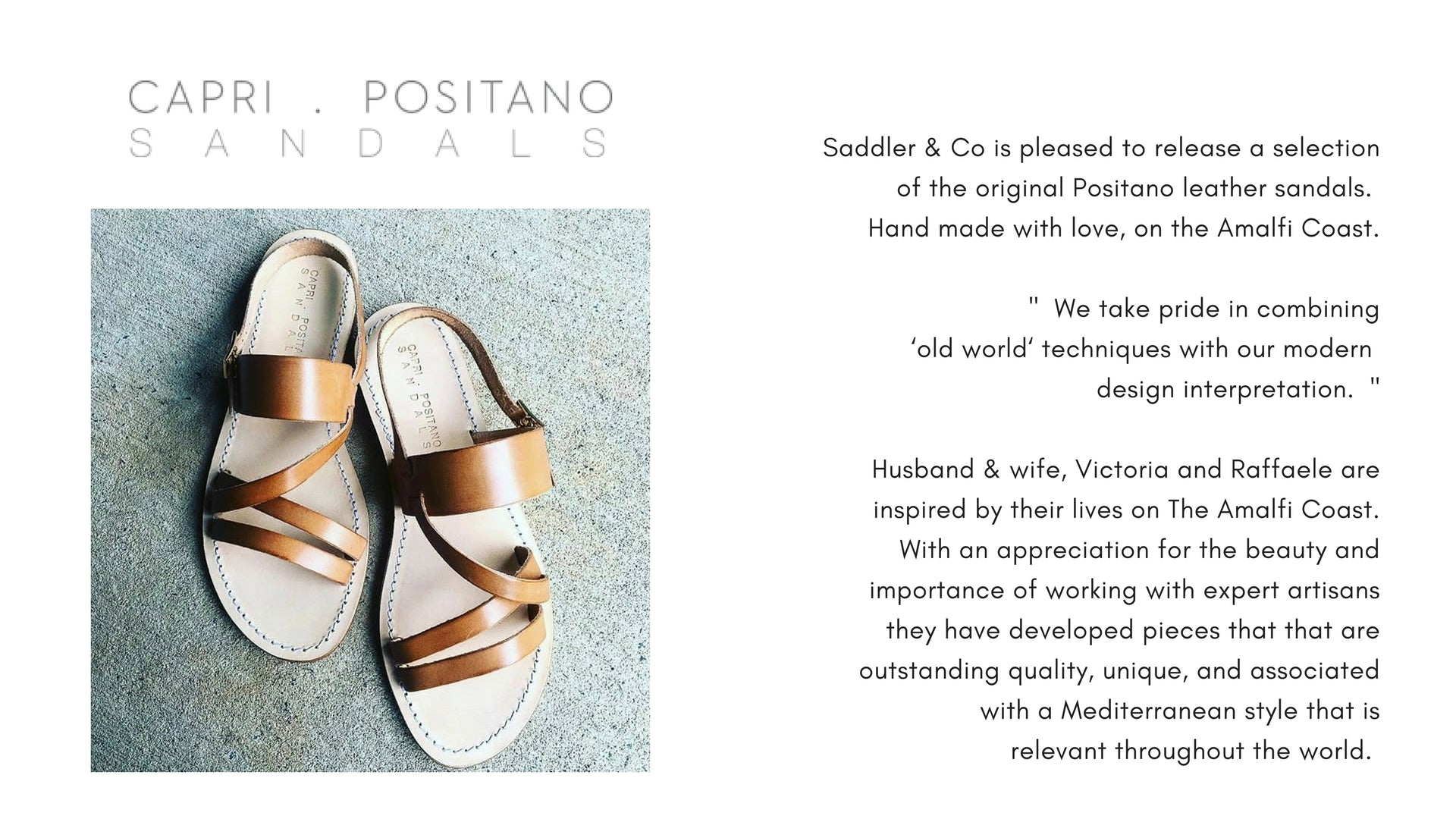 Capri Positano Hand Made Leather Sandals