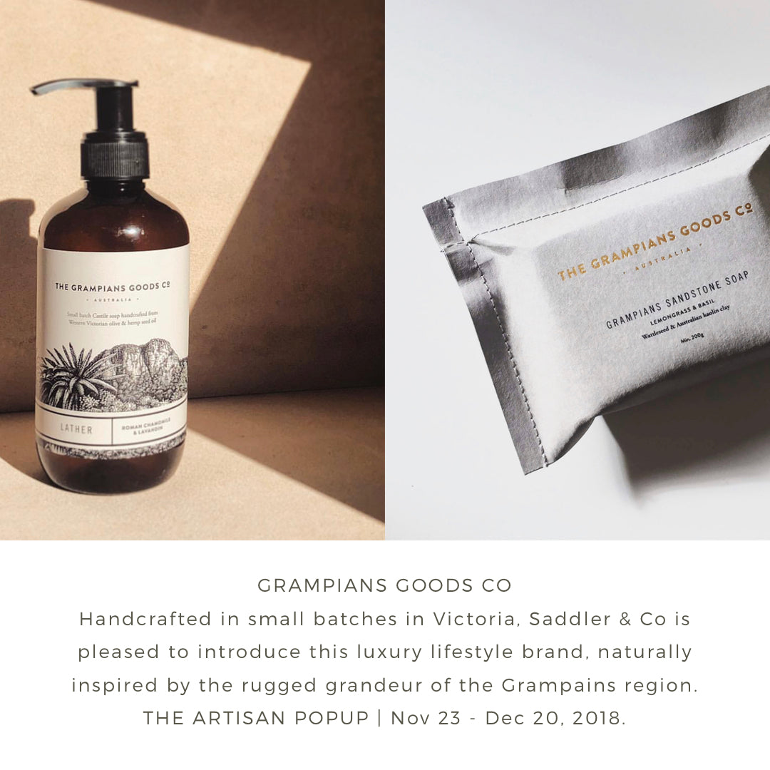 Saddler & Co presents the Grampians Goods Co range