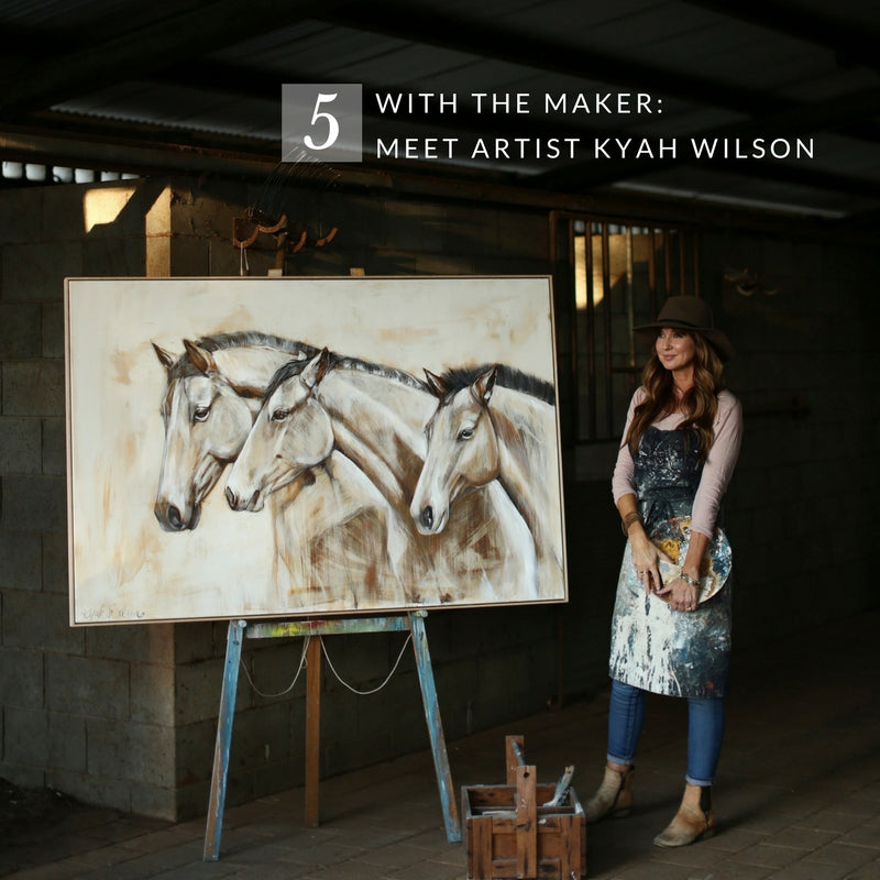 Interview with Kyah Wilson, artist from Western Plains of NSW, featured by Saddler & Co
