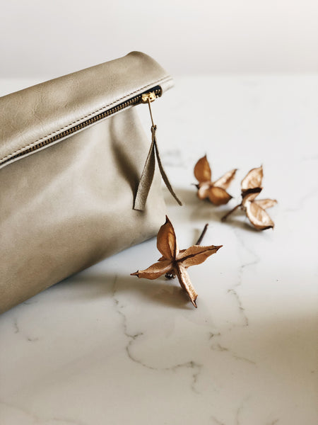 The Classic Clutch in Sage (Limited Edition)