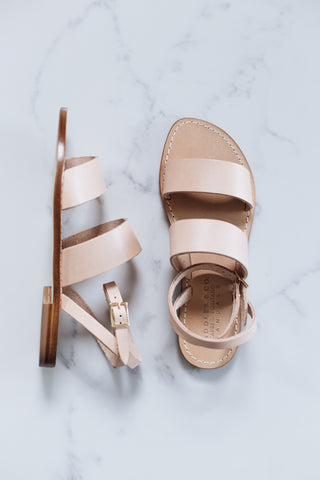 Sandal - Classic Band in Raw Tan Leather