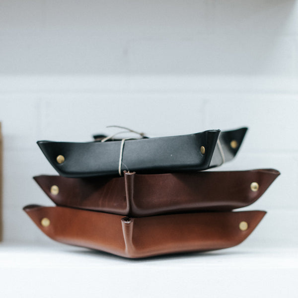 Leather Hold All Tray - Large