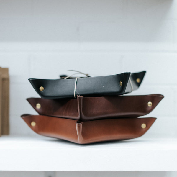 Leather Hold All Tray - Small