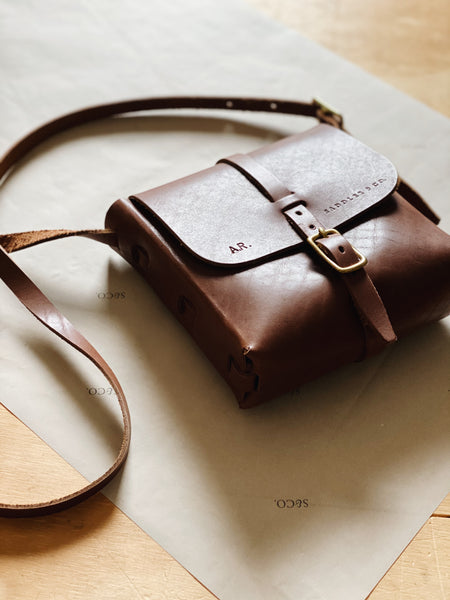 Kipling Leather Satchel in Caramel