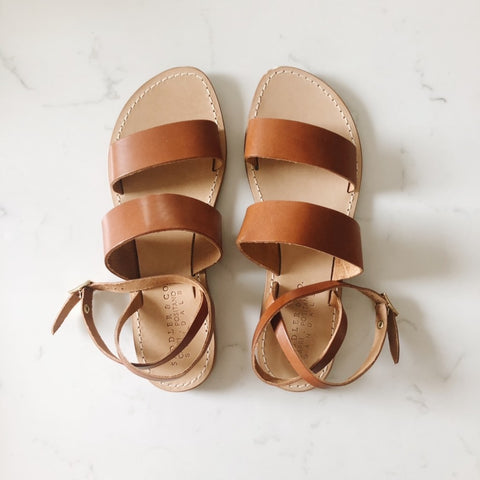 Classic Sandal in Dark Tan Leather
