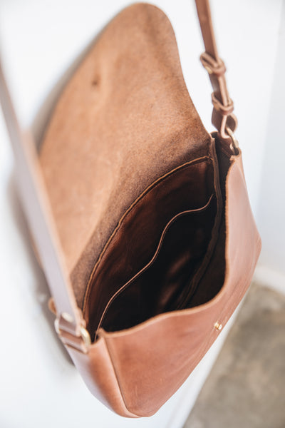 NEW - The Saddle Bag in Caramel
