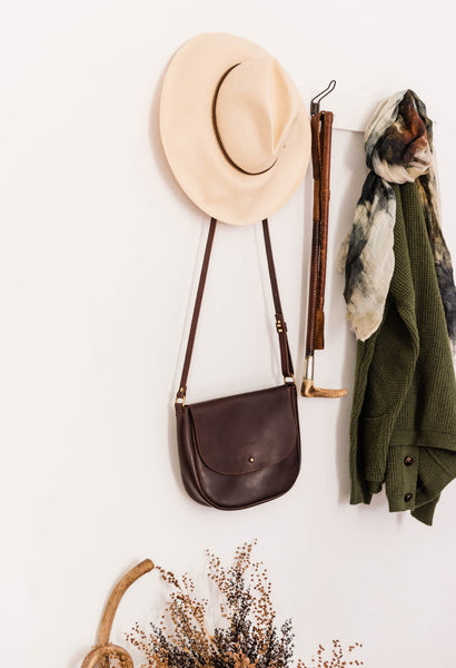 The Saddle Bag in Cocoa