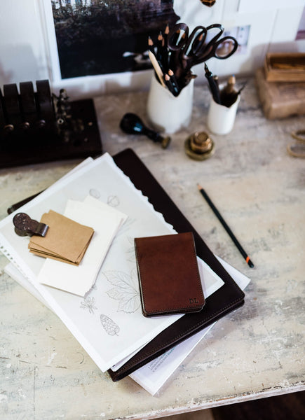 Leather Covered Flip Notepad