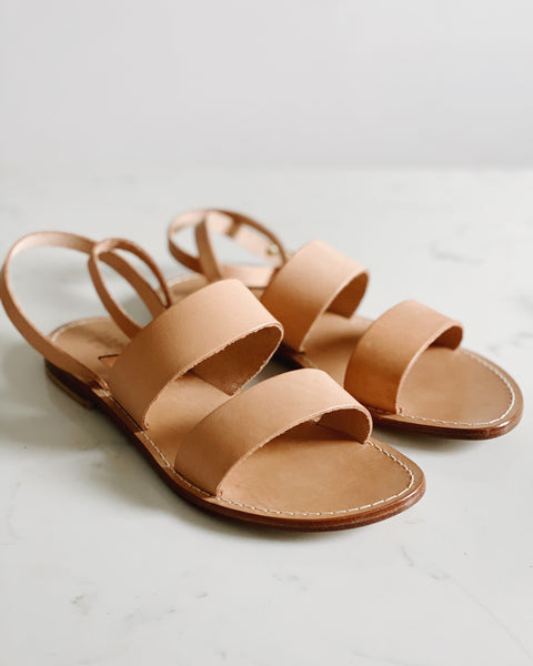 Classic Sandal in Natural Leather