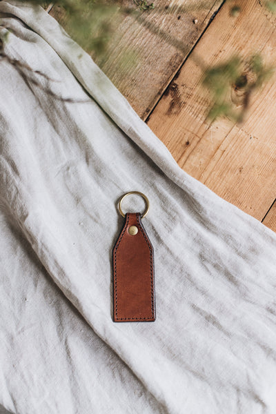 Heirloom Leather Keyring - Stitched