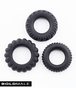 RALPH Elastic Cock Ring XXXCR-18 (Set of 3)