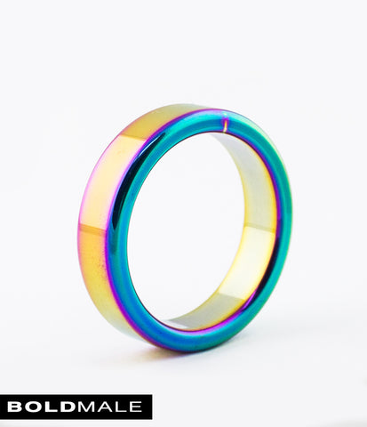 CODY Metal Cock Ring XXXCR-08 (Rainbow) 1