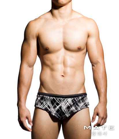 Very Sexy Ultra Lounge Shorts - Gi Joon (Black Stripes)