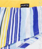 MATEGEAR - Sexy Men's Swimwear, Underwear, Sportswear and Loungewear - Extremely Sexy Mini Shorts - Joon Ki (Striped Silk Satin)