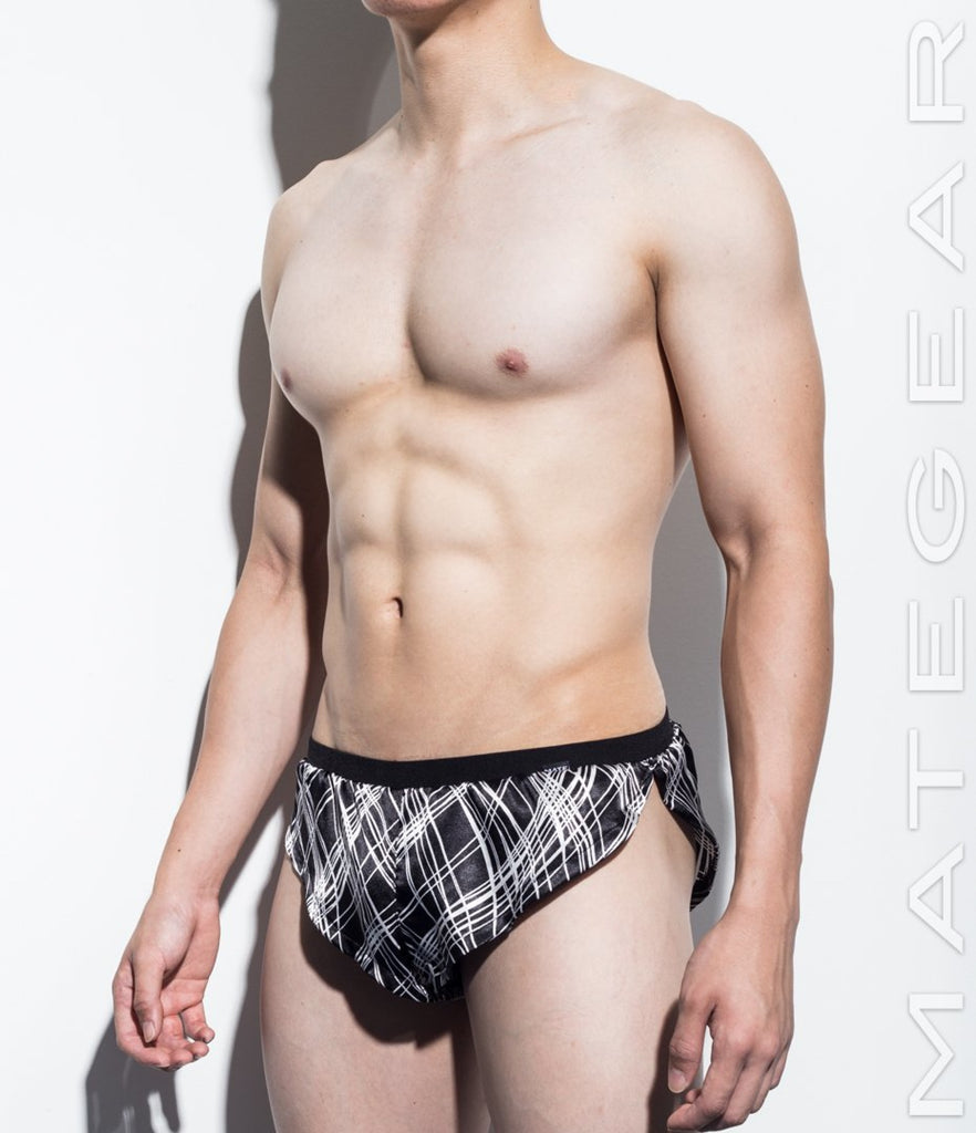 MATEGEAR - Sexy Men's Swimwear, Underwear, Sportswear and Loungewear - Extremely Sexy Mini Shorts - Kan Hae (Satin Series)