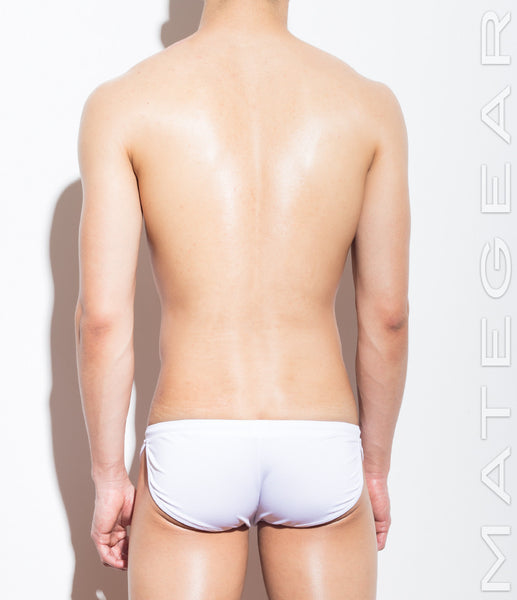 Signature Mini Shorts - Ki Nam (White Air Nylon) - Shop Sexy Men's Underwear, Sexy Men's Swimwear, Sportswear and Loungewear. Shop Skimpy Micro Bikinis, Mini G-Strings, Extreme Thongs, Sexy Jockstraps and More by MATEGEAR